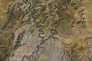 Canyonlands vue aérienne