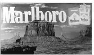 Publicité Malboro à Monument Valley