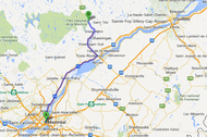 Carte trajet Montréal - Parc national de la Mauricie