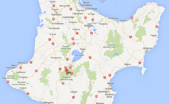 tongariro-map